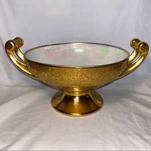 hutschenreuther Bavaria gold footed bowl